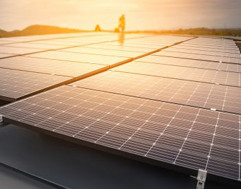 Installing solar panels, Renewable energy clean and good environment