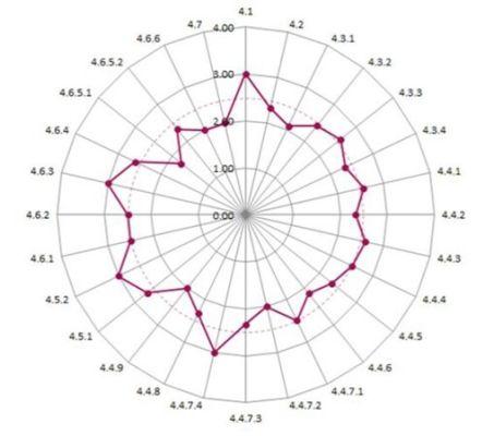AM Health Check scores against 28 elements of BSI PAS 55
